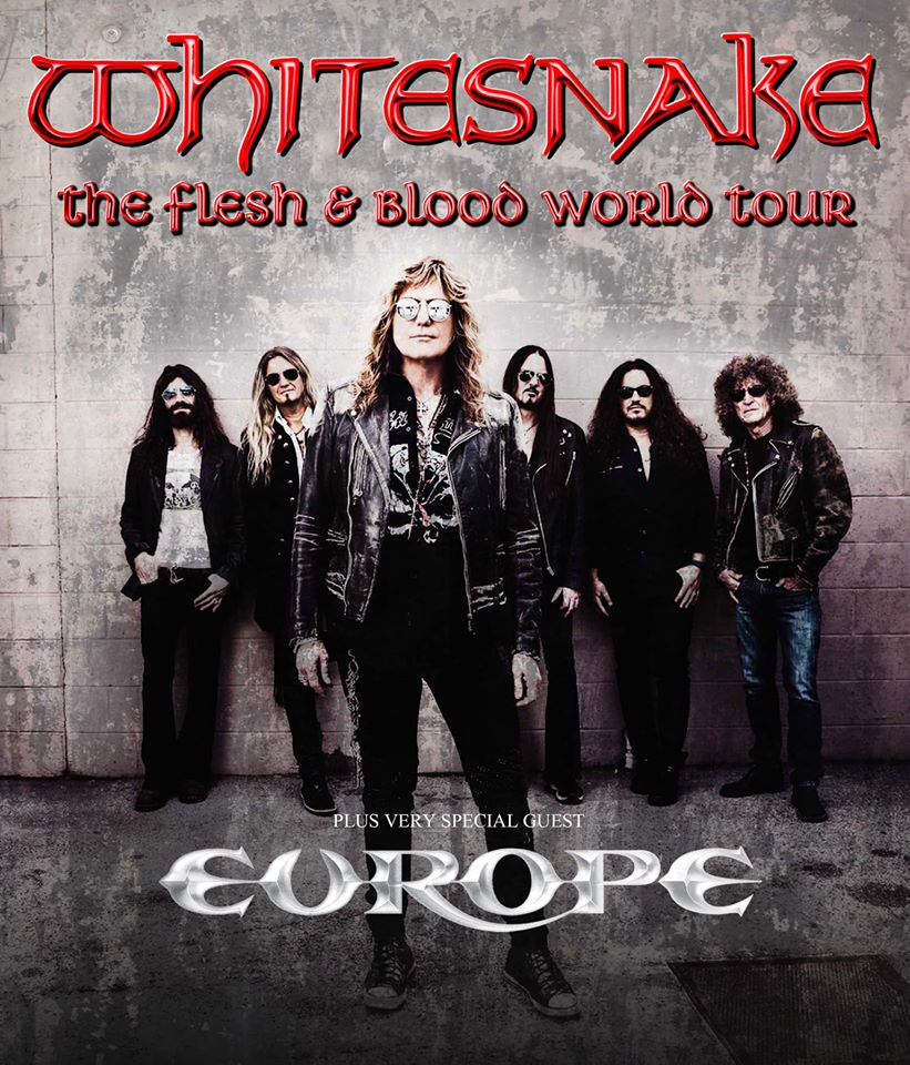 Le groupe whitesnake avec en guest europe