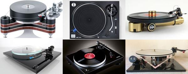 différentes platines vinyles